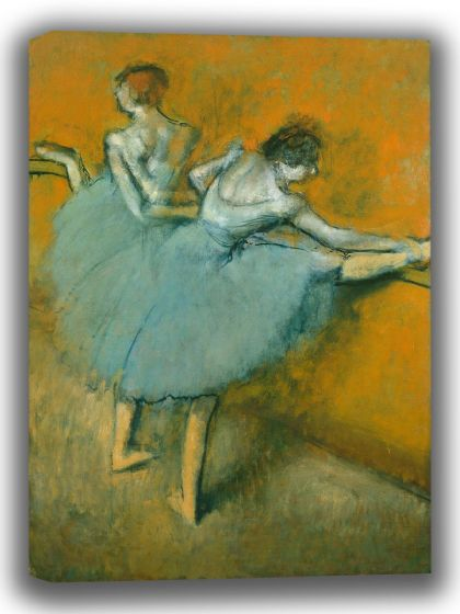 Degas, Edgar: Dancers at the Barre. Fine Art Canvas. Sizes: A4/A3/A2/A1 (003745)